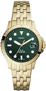 ساعة اف بي - 01 بمينا اخضر وسوار ستانلس ستيل وعرض انالوج للنساء من فوسيل، موديل ES4746