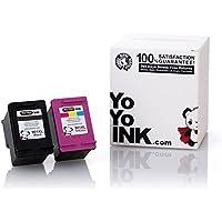 Yoyoink cartucce d' inchiostro rigenerate di ricambio per HP 901XL HP901hp-9012pezzi (1nero, 1colore) con indicatore del livello di inchiostro