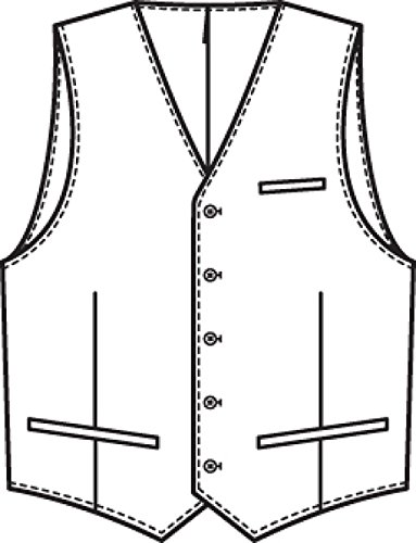 Uomo-gilet GREIFF clarytone BASIC comfort fit vestito - Style 1225 Blu marino