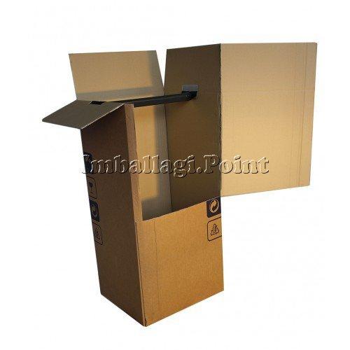 comprare on line 1 pezzo SCATOLE ARMADIO per ABITI TRASLOCHI 50X50X120cm DOPPIA ONDA TRASPORTO (50x50x120) prezzo