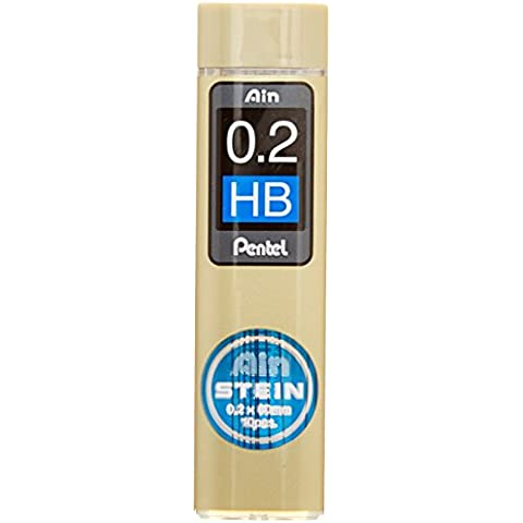 Pentel C272-HB Ain Stein 0.2mm Refill Leads (10 leads per tube) - Black Lead