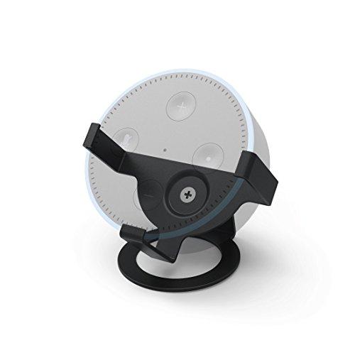 Hama Tisch-Ständer für Amazon Echo Dot, 2. Generation (zur optimalen Ausrichtung und Präsentation des Echo Dot) Lautsprecher-Ständer, Tisch-Halterung Schwarz