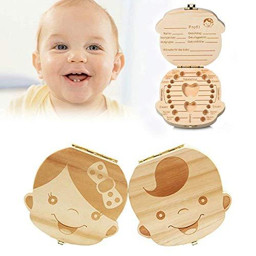 olz Milchzähne Box Junge Mädchen Muster Zahndose, Zähne Box für Baby, Kinder Aufbewahrungs Souvenirbox Zahnkästchen Baby Geburtstag Geschenk Junge Mit Pinzette ()