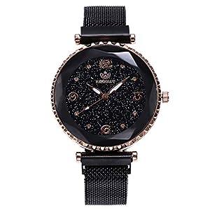 A-Artist Damen Armbanduhr Ultra-flach Slim-Uhr mit Leder-Armband Edelstahl Mesh Armband Uhren Wasserdicht Geschäfts Klassisch Analog Quarz Dünn Armbanduhr Elegant Uhr Zifferblat