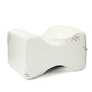 Memory Foam Pillow, Essort Neck Care Pillow Bamboo Fiber Slow Rebound Cervical Health Care, Neck Pain Relief, Orthopedic Neck, Hypoallergenic Anti-Mites, Breathable Moisture Absorption 50x30cm