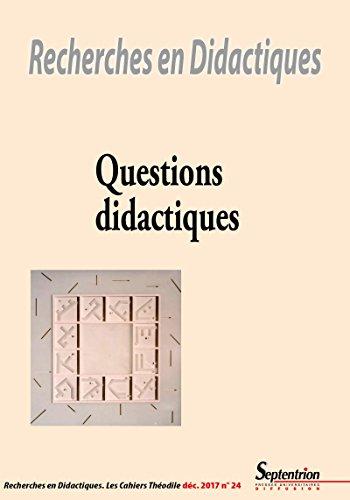 Questions didactiques: Revue n24 - dcembre 2017