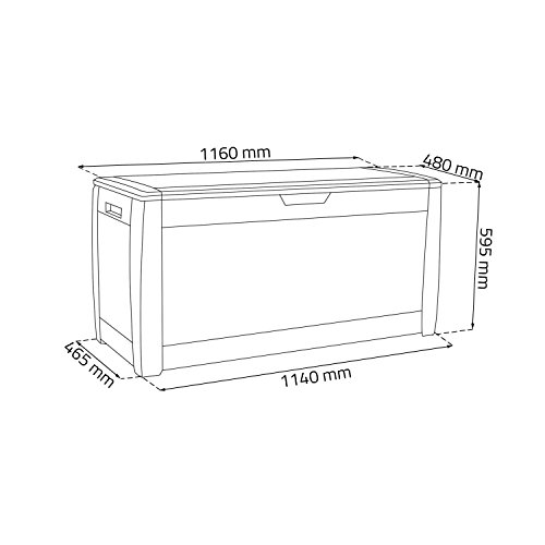 Prosper Plast Boxe Rato Garden Container, 119 x 48 x 60 cm, Dark Brown, 119x48x60 cm