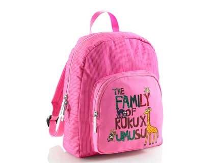 Imagen de cartera escolar miquelrius kukuxumusu family  pequeña 25x31x 8,5cm