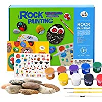 Jar Melo JARMELO Rock Painting Kit; Non-Toxic; Hide and Seek Rock Art; Creative Colorful Magic Stone; Creative Gift; Arts and Crafts Kits for Adults and Kids