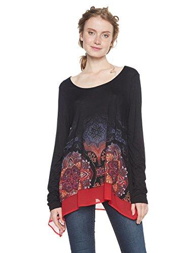 Desigual Damen T-Shirt TS_OLGA, Schwarz (Negro 2000), X-Large