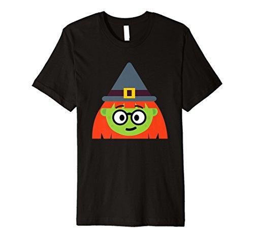 Hexe Emoji-T-Shirt Nerd Geek Halloween-Kostüm ()