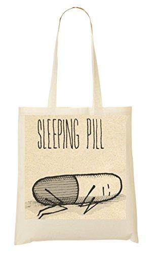 Sleeping Pill Also Sleeps Hilarious Collection Anime Style Medicine Prozac Sac Fourre-Tout Sac À Provisions