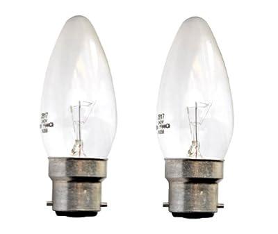 2x Neolux Kerze Classsic Glühbirne Glühlampe B22 klar 25Watt von Neolux - Lampenhans.de