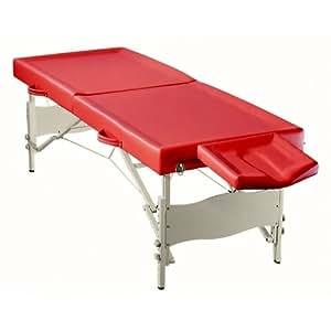 "Table de Massage Pliante ""Ayurveda"" - Rouge"