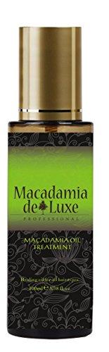 Macadamia DeLuxe Olio di Macadamia Capelli Olio Corpo Olio, 100ml, Cura per Capelli e Cura del Corpo Premium
