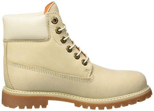 Donna Lumberjack Alto a River Collo Cream M0010 Scarpe White Beige 7qxOvX7r
