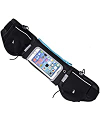 2 Water Bottles Waist Pack, 5 Colors Multi-Functional Outdoor Sports Adjustable Waist Bag For Running Hiking Cycling...