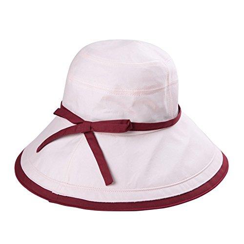 LLZTYM Chapeau/Femme/Été/Pliage/Anti-Ultraviolet/Casquette De Plage/Cap Soleil/Suncap/Couvre-Chef/Cadeau Pink