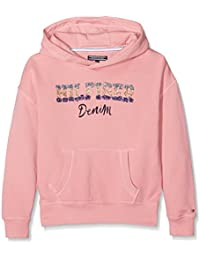 Tommy Hilfiger Ame Girls Iconic Hd Hwk L/S, Sweat-Shirt à Capuche Fille