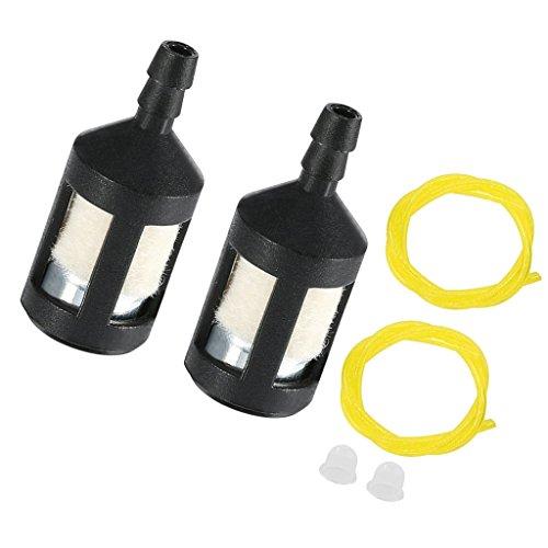 MagiDeal Primer Glübirne + Zündkerze + Kraftstoffleitungen + Kraftstofffilter für Homelite ST155 ST175 Rasenmäher Freischneider Vergaser Ersatzteil