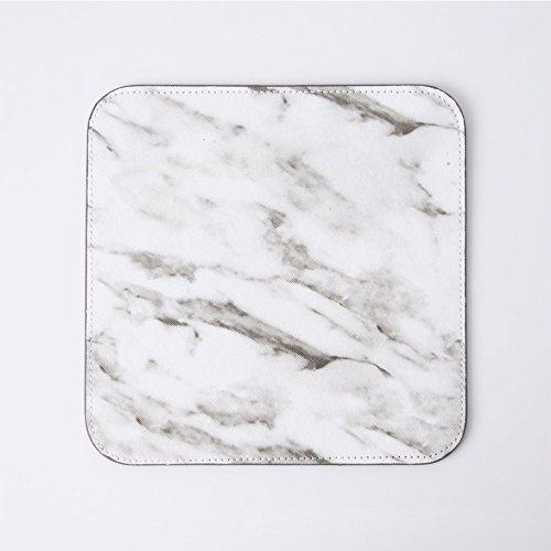 Square Marmor (etbotu Marmor Muster Maus Pad einfach Mauspad Gaming-Mäuse Square Pad Dekoration elegant schwarz/weiß)