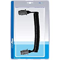 Cable espiral de 4,5 m con 2 conectores de 7 polos de metal en blíster