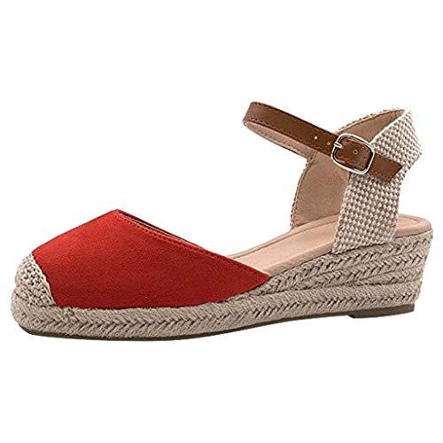 YWLINK Zapatos De Mujer Gran TamañO De Comercio Exterior De Europa Y Estados Unidos Baotou Hebilla...