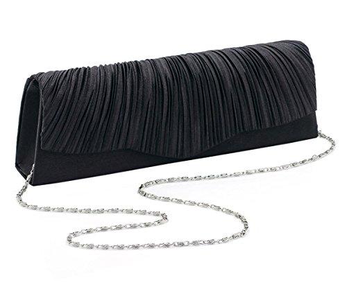 nouveau-femmes-crinkle-rechercher-ruffle-conception-pochettes-black