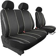 Fundas de asiento–Se adapta PT009Eco de piel sintética con alkkantara Negro–pt9001vwt5