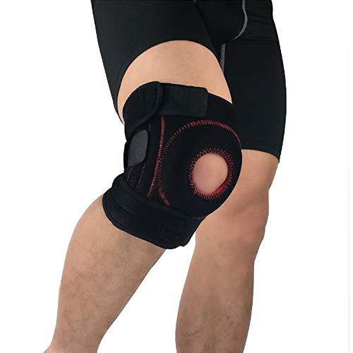XBECO Sport-Knie-Pads Brace, Quad Frühlingsstabilisatoren, Silikon-Gel-Support, Broad Sleeve Extra-Firm Dynamic Splint Flexion Widerstand, Joint Stress Reduction & Rehabilitation - One Size, Unisex -