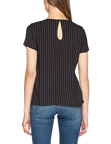 ONLY Damen Bluse Mehrfarbig (Black Stripes:White Pinstripe)