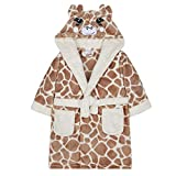4 Kidz Giraffe Neuheit Plüsch Fleece Bademantel Jungen Mädchen - Creme, 122-128