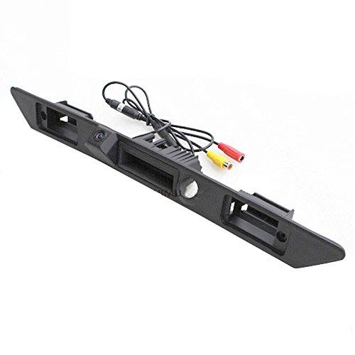 Navinio Wasserdicht 170 ° umkehrbare Fahrzeug-spezifische Griffleiste Kamera integriert in Koffergriff Rückansicht Rückfahrkamera für Audi A3 A4 A6L A8L A8 Q7 A4 B6 C6 B7 8E 8H Q5 Q7 (Model LS8001=85mm)
