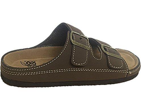 Foster Footwear ,  Jungen Unisex Erwachsene Herren Damen Pantoletten B- DK Brown