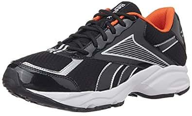 Reebok Men's Luxor LP Black, Silver and Paprika Mesh Running Shoes - 6 UK
