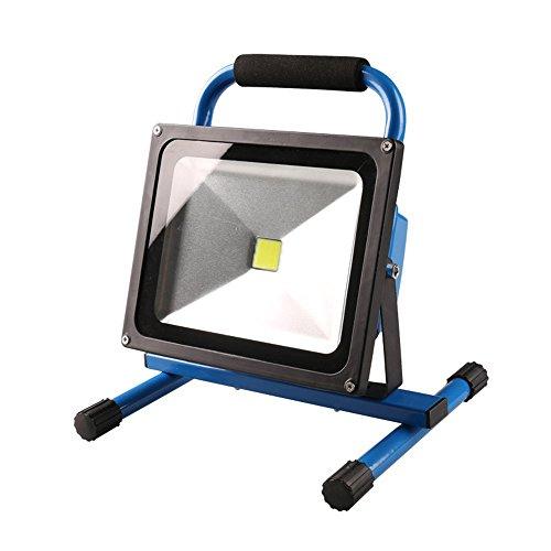 MCTECH 30W Tragbare Wiederaufladbare Handlampe LED AKKU Flutlicht-Lampe Arbeitsscheinwerfer Angeln Beleuchtung Outdoor Laterne Campinglaterne Werkstatt-Flutlicht IP65 (30W Warmweiß)