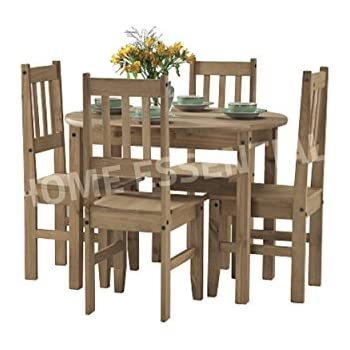 This Item Seconique Mexican Round Drop Leaf Dining Set With 4 Chairs