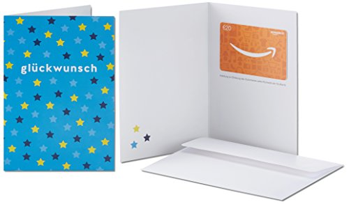 Amazon.de Geschenkkarte in Grußkarte - 20 EUR (Glückwunsch Sterne) -