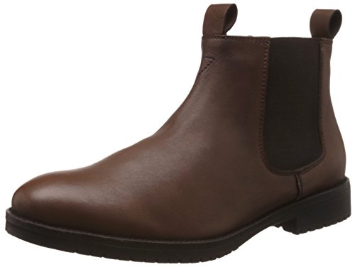 Bata Men's Channing Brown Leather Boots - 8 UK/India (42 EU) (8044194)