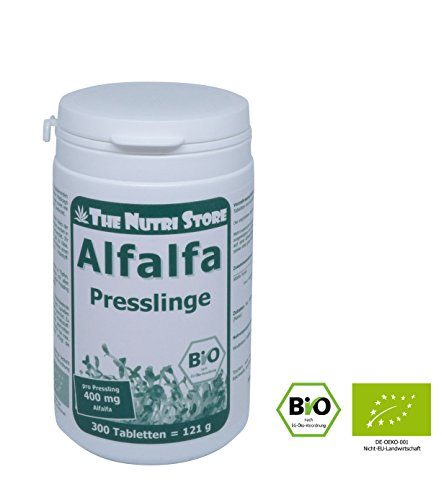 Bio Alfalfa Presslinge - 400 mg pro Pressling - 300 Stk.