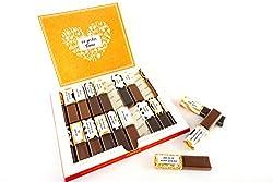 SURPRISA Aufkleber Set für Merci Schokolade - Dankeschön Lebenspartner - kreative Geschenke für Freundin, Freund, Mutter, Vater - kleine aber persönliche Geschenkideen - kleines Geschenk