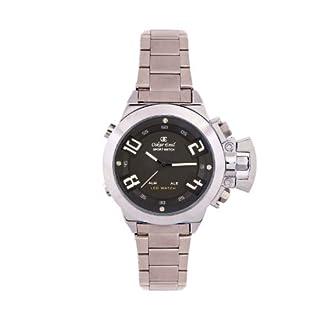 Oskar Emil Sigma Black – Reloj de Cuarzo para Hombre, Correa de Acero Inoxidable Color Plateado