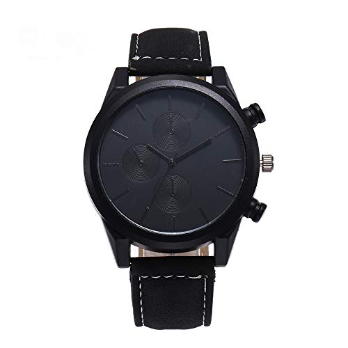 Jiameng orologio da polso, moda elegante orologio classico orologio in acciaio inossidabile al quarzo classico da uomo e da donna orologio da cintura (nero)