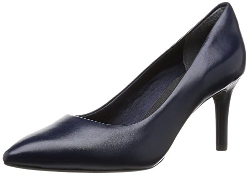 Rockport Damen Total Motion 75mm Pointy Toe Pump Pumps, Blau (Deep Ocean Nappa), 38 EU Pointy Pumps