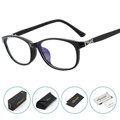 GQUEEN Blaues Licht, das Computer-Gläser, Anti-Glare-Augen-Ermüdung mit TR90 blockiert, Rahmen-transparente Linse, GQ612