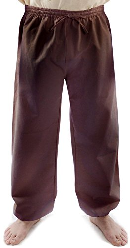Preisvergleich Produktbild HEMAD Herren Hose Mittelalter Bund-Hose braun S/M feste Baumwolle