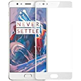Star Tech Oneplus 3 / 3T Tempered Glass Screen Protector Full Cover Edge-to-Edge (white) For One Plus 3 OnePlus 3T 1+3 Colour-(white)