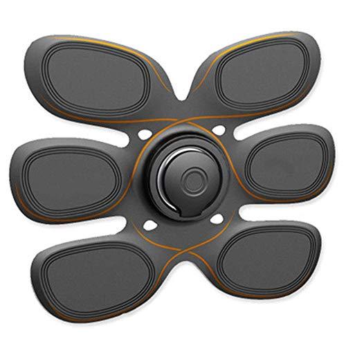 RXRENXIA Stimolatore Muscolare, EMS ABS Trainer Cintura Addominale USB Ricaricabile Muscoli Toner per Braccia in ABS Gambe Supporto Cintura e 8 modalità 10 Livelli per Uomo