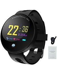 IP67 Podomètre étanche avec bracelet de fitness, suivi d'activité, compteur de calories, surveillance du sommeil, IOS8.0 et Android4.4 fruits et défaut Bluetooth 4.0 - FAVOURALL noir