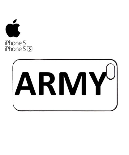 Army Soldier Mobile Cell Phone Case Cover iPhone 5c Black Weiß